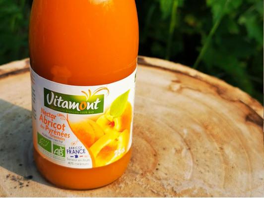 Nectar d'abricots bio